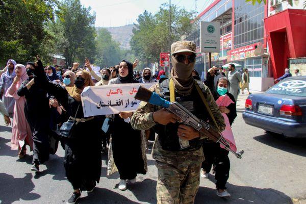 Manifestation de femmes à Kaboul, le 7 septembre 2021.