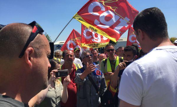 L'ancien leader syndical Pierre Le Menahés est venu soutenir les salariés de la Fonderie.