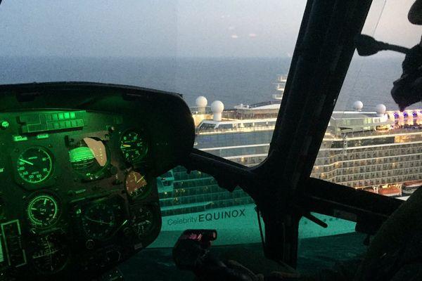 27/07/16 - Evacuation médicale d'un homme à bord d'un paquebot au large d'Ajaccio