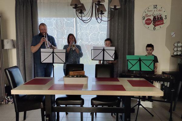 Famille Fournel en répétition