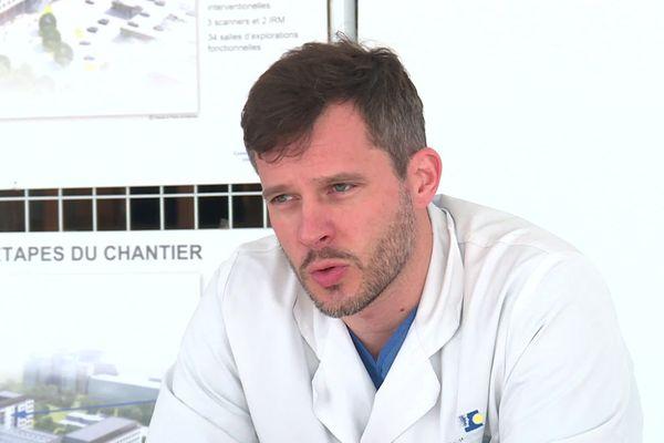 Julien Poissy, chef du service réanimation du CHU de LIlle