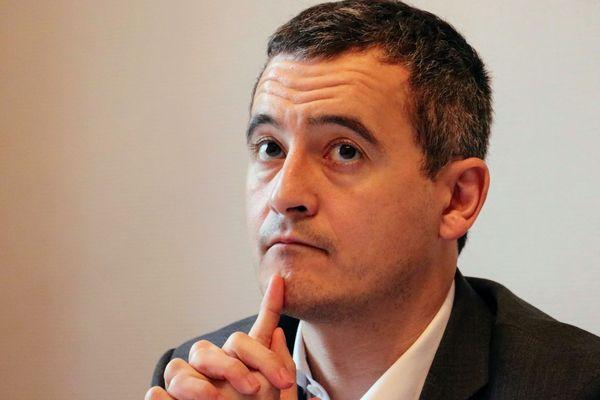 Gérald Darmanin, candidat tête de liste LREM à Tourcoing.