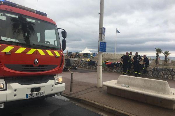 Une quinzaine de pompiers sont intervenus sur place pour combattre l'incendie