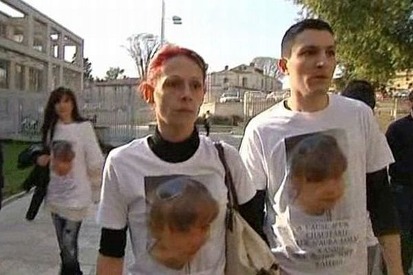 Montpellier - Sandra Pereira arrive au tribunal avec sa famille et ses amis - 12 mars 2014.