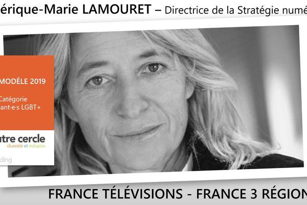 """Frédérique-marie Lamouret, directrice de la stratégie numérique de France Télévisions nommée, un des vingt """"rôle modèle 2019"""" français dans la catégorie Dirigeant.e.s LGBT+ par l'association L'autre Cercle"""