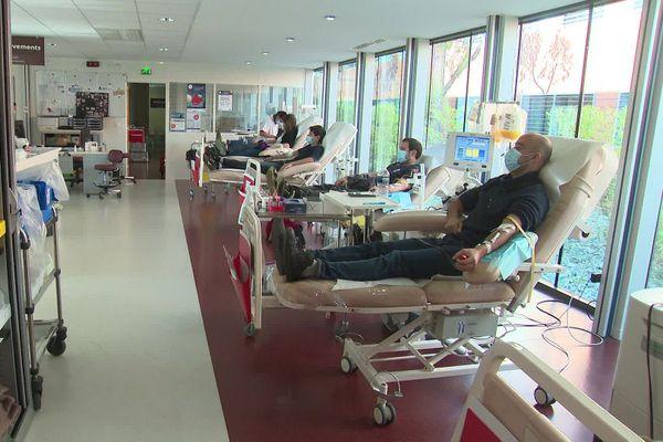 Le don du sang ne connait pas de répit, surtout en ces temps de pandémie. Ce jeudi matin à l'EFS de Montpellier.