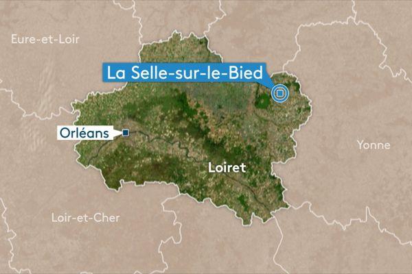 L'incendie s'est déroulé dans le Loiret, à la Selle-sur-le-Bied - Carte d'illustration