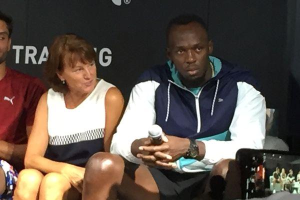 Usain Bolt à Marseille pour participer à un colloque sur la préparation sportive