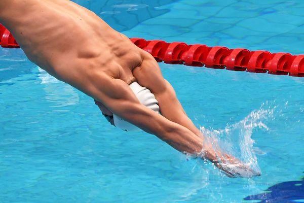 Le nageur de Toulouse Léon Marchand - archives 2021.