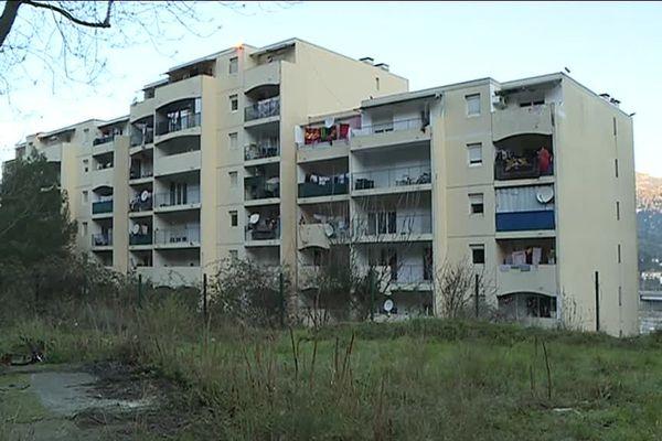 Le secteur de l'impasse des Lierons à l'est de Nice