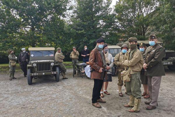 Véhicules et tenues d'époque pour cette reconstitution de la Seconde Guerre mondiale à Albert dimanche 30 août 2020