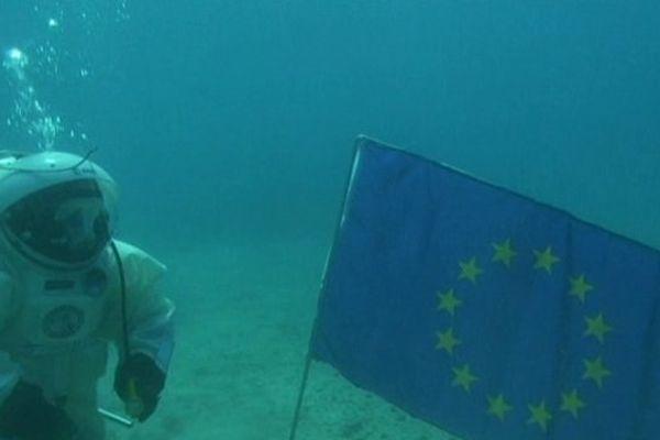 L'astronaute Jean-François Clervoy s'était déjà entraîné sous l'eau, au large du Frioul