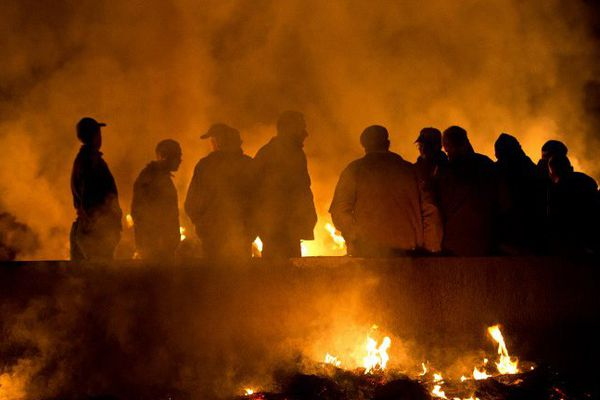 La RN 165 bloquée par les agriculteurs ce lundi 25 janvier