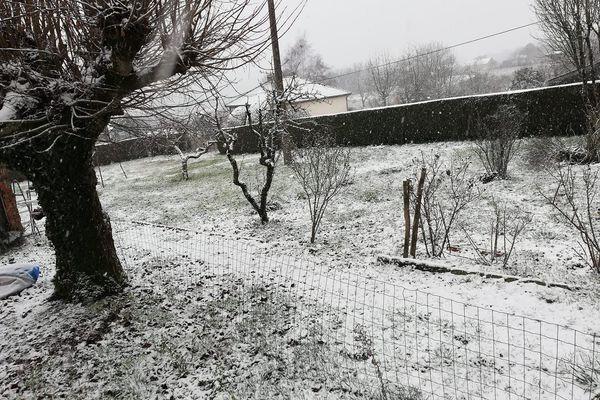 Neige à La Coquille en Dordogne le 22.01.2019