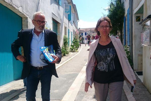 Christian Gerin mène campagne dans la 5ème circonscription de Charente-Maritime aux côtés de sa suppléante Marie-Noelle Groch.