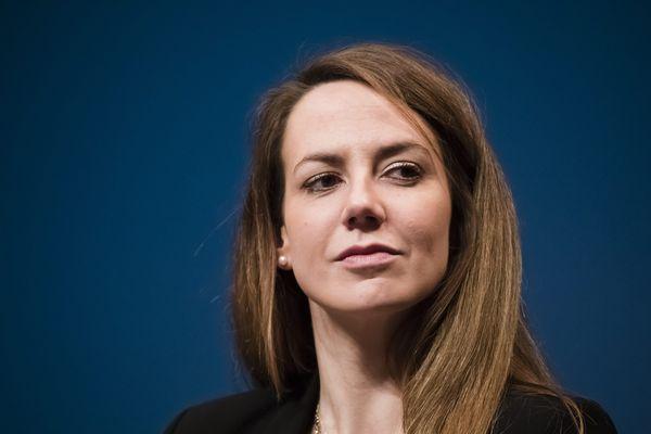 Agnès Pottier-Dumas (soutenue par les Balkany) en campagne à Levallois, le 26 Fevrier 2020.