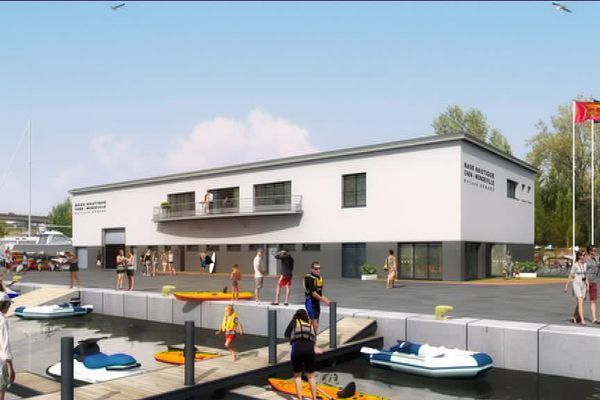 Sur la Presqu'île de Caen, une nouvelle base nautique devrait ouvrir ses portes en 2019