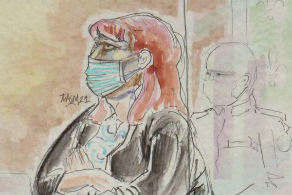 L'accusée devant la cour d'appel de Rouen