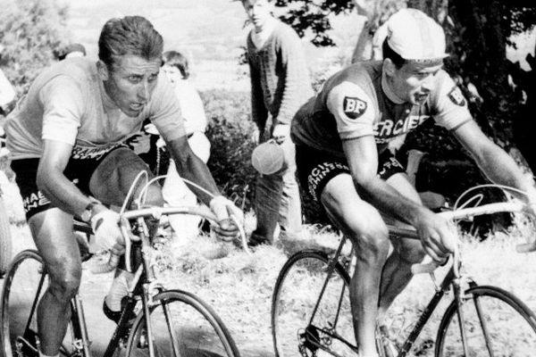 Un mythe du Tour : Anquetil et Poulidor.