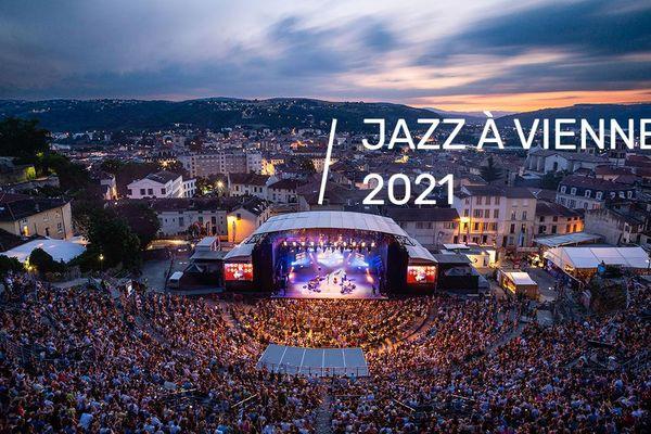 L'amphithéâtre de Vienne pendant le festival de Jazz