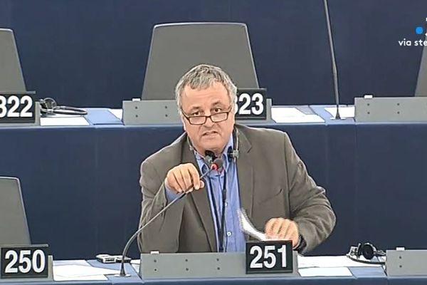 François Alfonsi au parlement européen lors de sa précédente mandature, entre 2009 et 2014