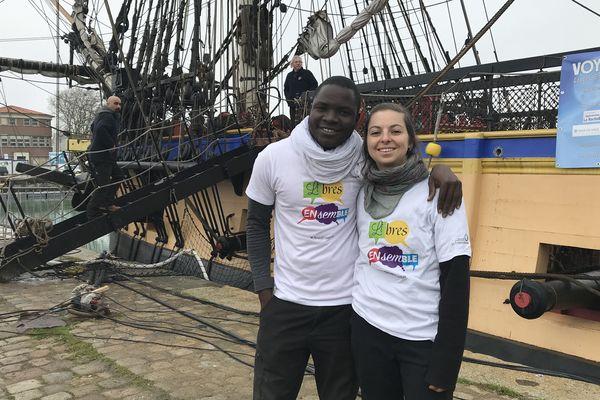 Soulo et Danie font partie des 60 gabiers volontaires recrutés pour effectuer la traversée de l'Hermione.