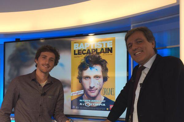 Le comédien et humoriste JBaptiste Lecaplain sur le plateau de France 3 Ile-de-France