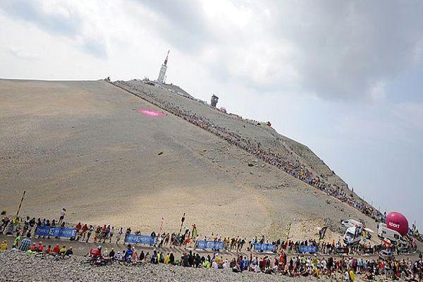 Mont-Ventoux (Vaucluse) - une arrivée du Tour de France - archives