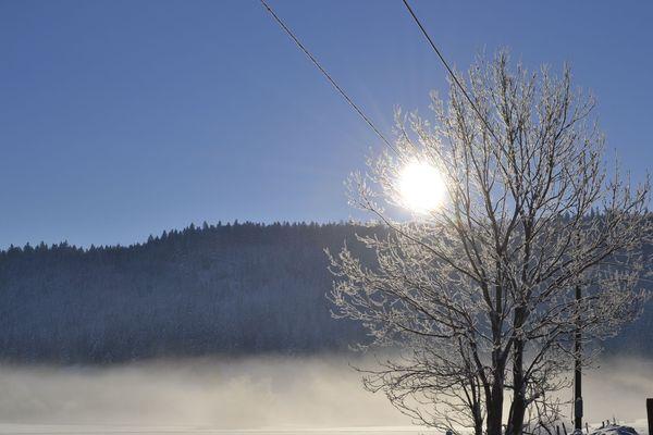 Massif du Jura sous la neige