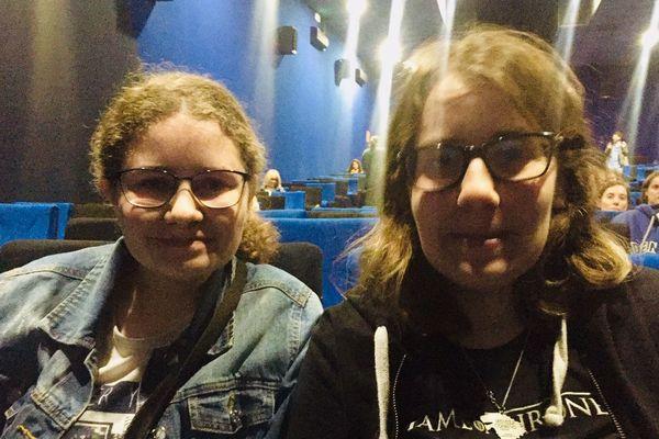 Sloenne et sa soeur sont venus spécialement de l'Eure pour voir la série sur grand écran