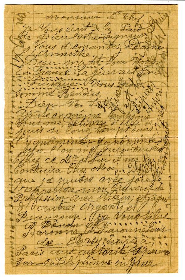 Lettre de séraphine Louis datée du 09/10/1941