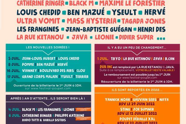 Le festival de Poupet aura lieu du 1er au 7 juillet 2021
