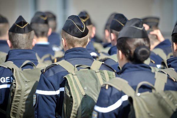 Des élèves gendarmes en formation à Montluçon. Photo d'illustration.