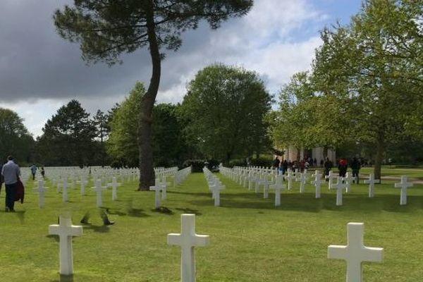 Ciel couvert sur le cimetière américain de Colleville-sur-mer, mai 2014