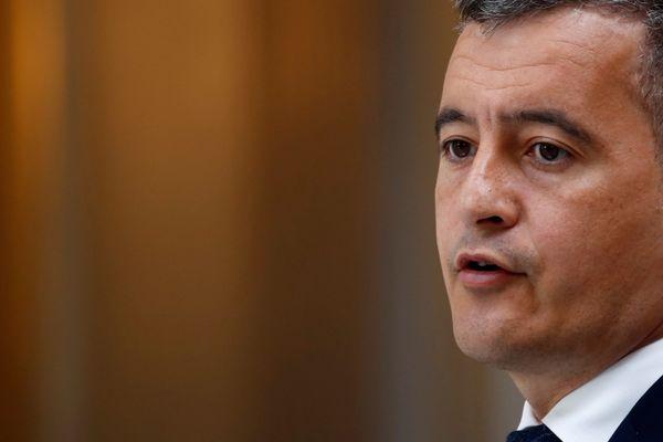 Gérald Darmanin au Palais de l'Elysée à Paris le 28 avril 2021