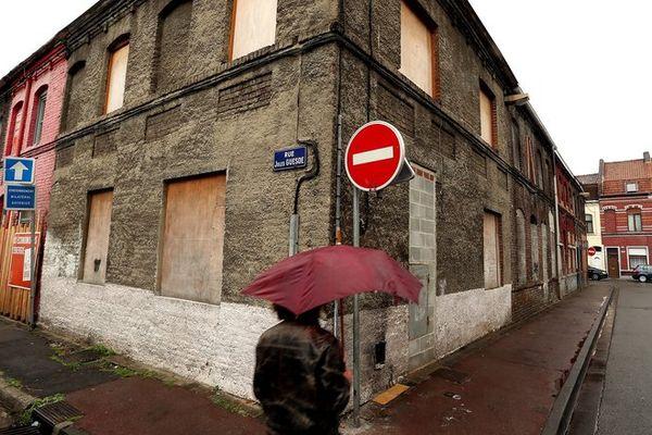 Des maisons abandonnées à Roubaix.