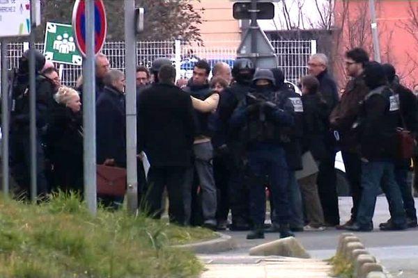 La reconstitution du meurtre d'Aurélie Châtelain, en mars 2016