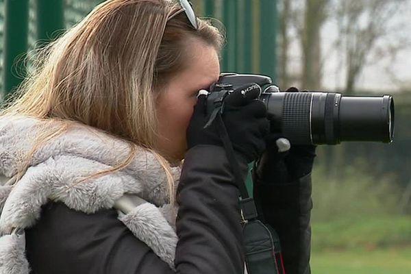 La jeune Troyenne photographie son équipe favorite depuis près de 10 ans.