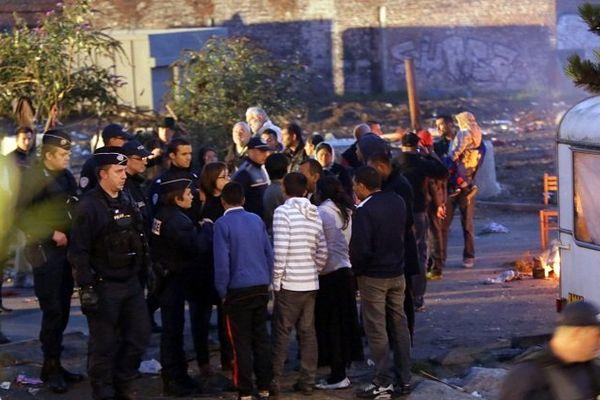 Evacuation d'un camp rom à Roubaix en septembre 2013