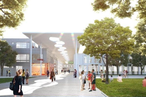 La future université du Mirail imaginée par les architectes.