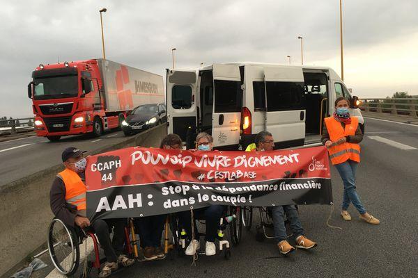 Action des handicapés à Nantes, le 16 septembre 2021
