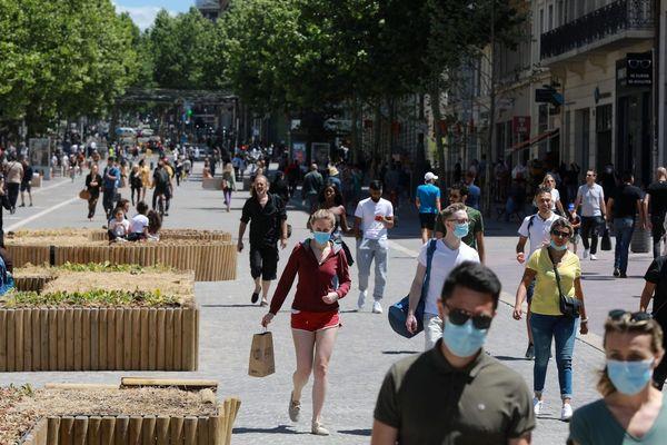La Canebière, Marseille, le 6 juin 2020.