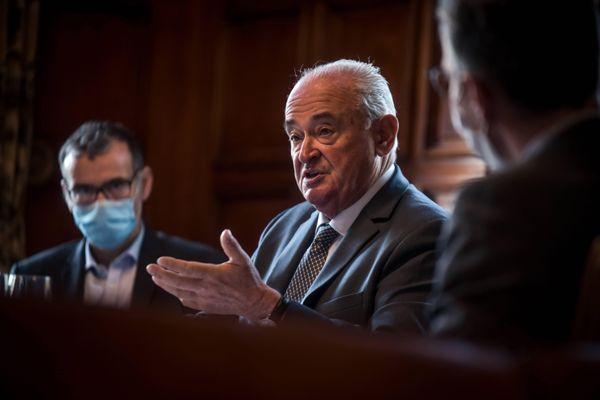 Jean-Jacques Lasserre le 29 septembre 2020 au Parlement de Navarre.