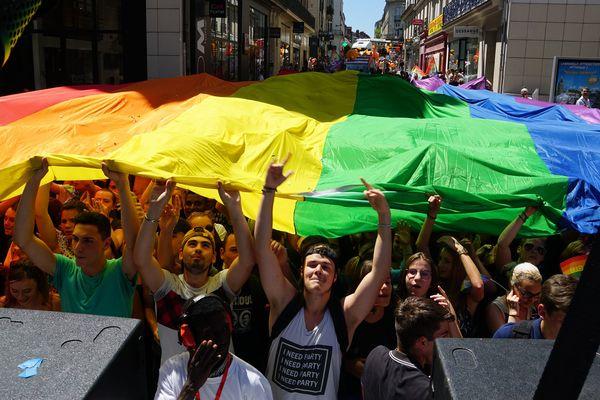 Lors de la gay Pride  2017 à Nantes