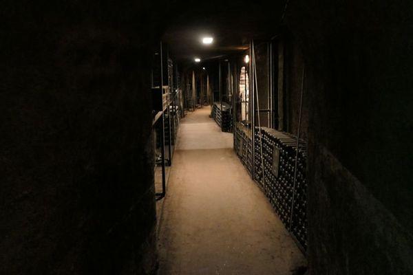 Dans les caves du château de Meursault