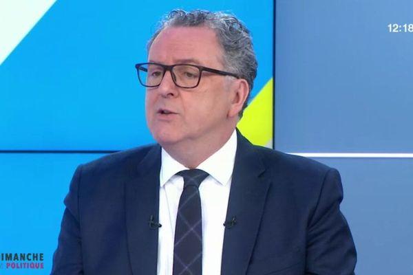 28/01/2018 - Le chef de file des députés La République en marche, Richard Ferrand était l'invité de l'émission Dimanche en politique