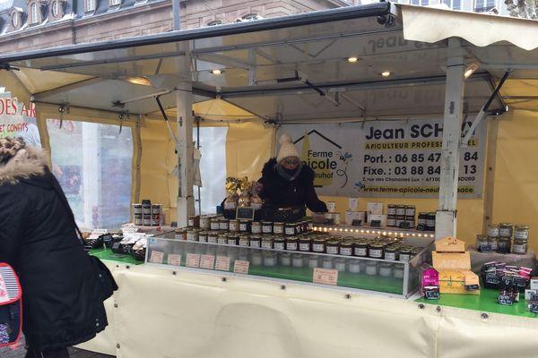 Claudia Wetterhold au marché Broglie à Strasbourg, le mercredi et le vendredi