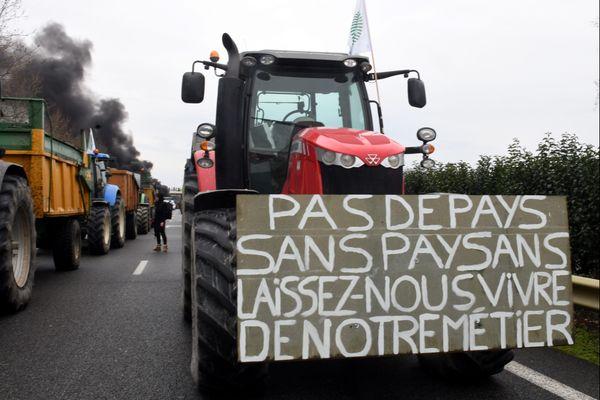 Manifestation d'agriculteurs en février 2018 (photo d'illustration).