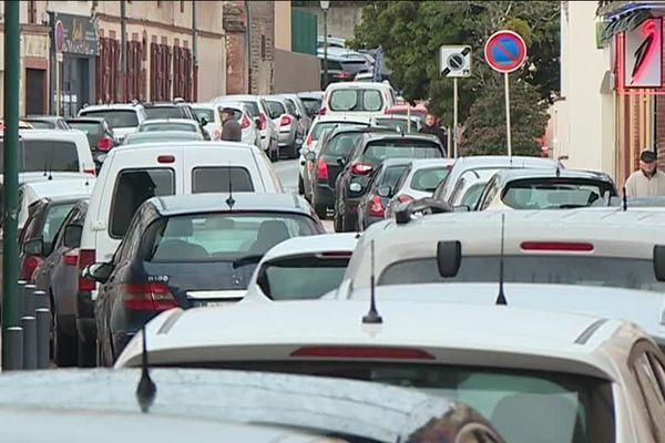 La circulation est devenue très difficile dans les rues de Blagnac.