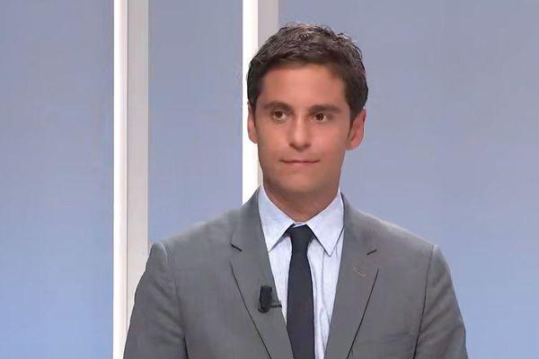 Gabriel Attal, porte-parole du gouvernement, était l'invité du Corsica Sera mardi 11 août.
